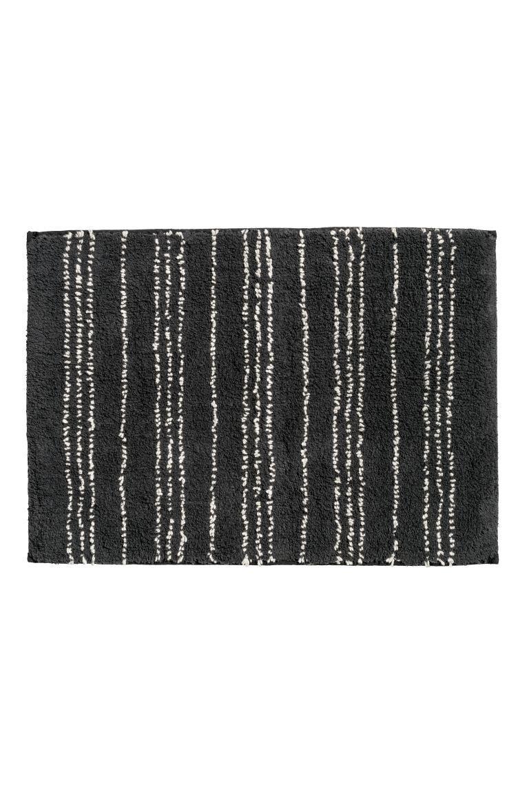 Bath Mat Charcoal Gray White Patterned Home All H M Us Black Bath Rug Bathroom Bath Mats Bathroom Rugs [ 1152 x 768 Pixel ]