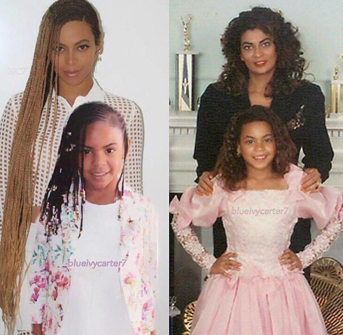 Tina Beyonce Blue Like Mother Like Daughter Beyonce Family Blue Ivy Carter Celebrity Families