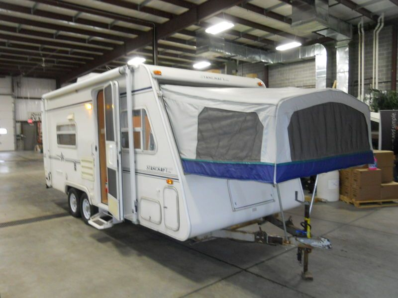 2001 Starcraft Travel Star Expandable 21rbs Travel Trailers Hybrid Rv For Sale In Richfield Wisconsin Rosko Travel Trailer Starcraft Used Travel Trailers