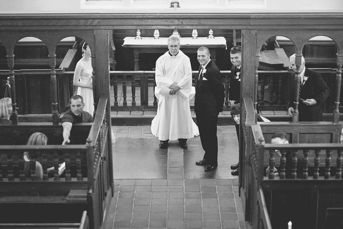 Blush and White Historic Church Wedding | Smithfield, Virginia | Wedding ceremony