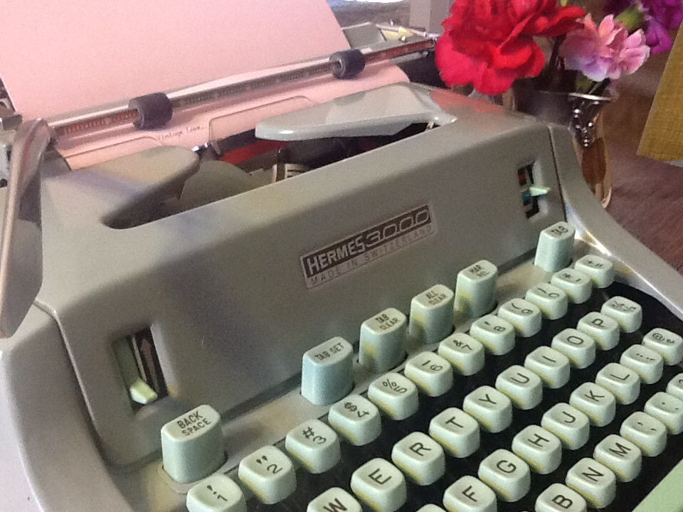 I remember learning on a typewriter and love hearing the bell at the end.