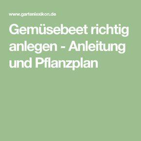 Gemüsebeet richtig anlegen - Anleitung und Pflanzplan | Garten ...