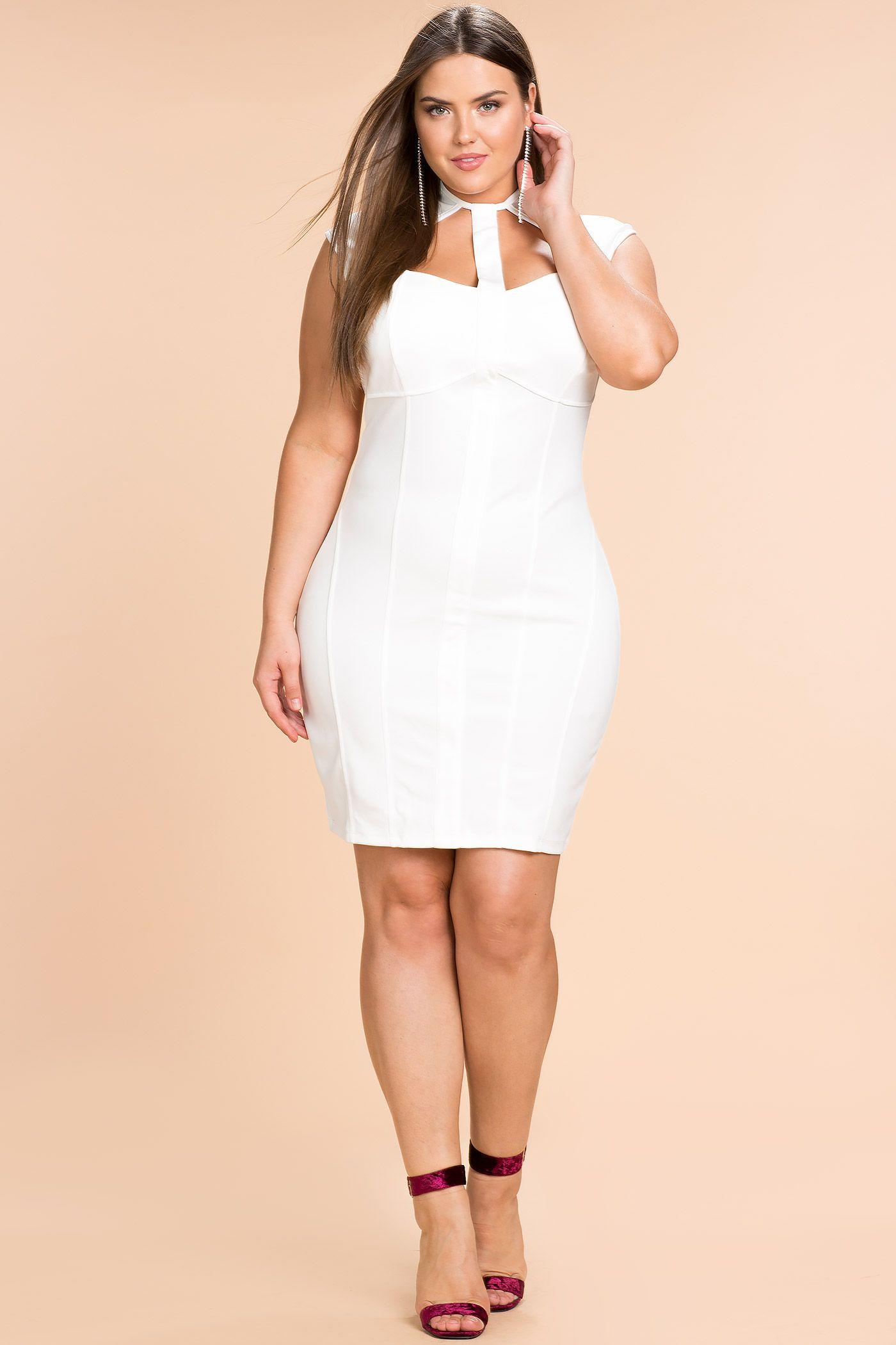 Womenus plus size bodycon dresses aeon cut out bodycon dress a
