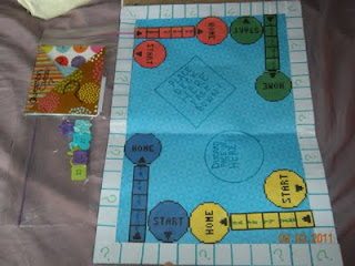 Student created board games use a board game template for Board game instructions template