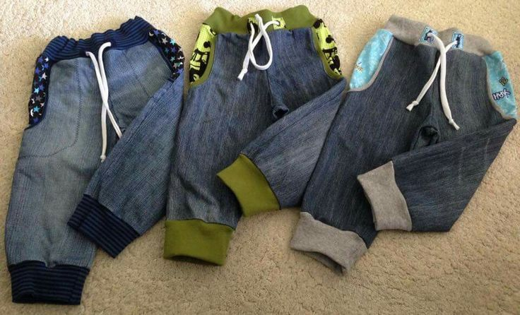 Was machen mit alter Jeans? Schnittmuster Jogging Rockers von ...