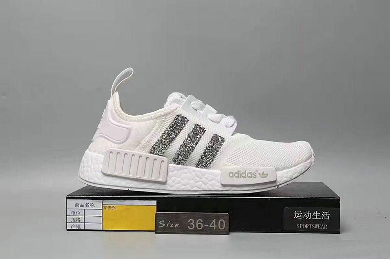 804db38a52edc 2018-2019 New Arrival Running Shoes Swarovski 2018 Blinged Adidas Nmd Runner  Triple White Athletic Shoes Swarovski Crystal Shoes 2018