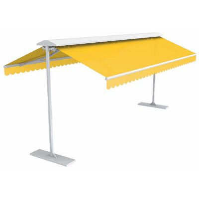Awntech Richmond Double Sided Free Standing Retractable Awning Shade Sail Outdoor Kitchen Retractable Awning