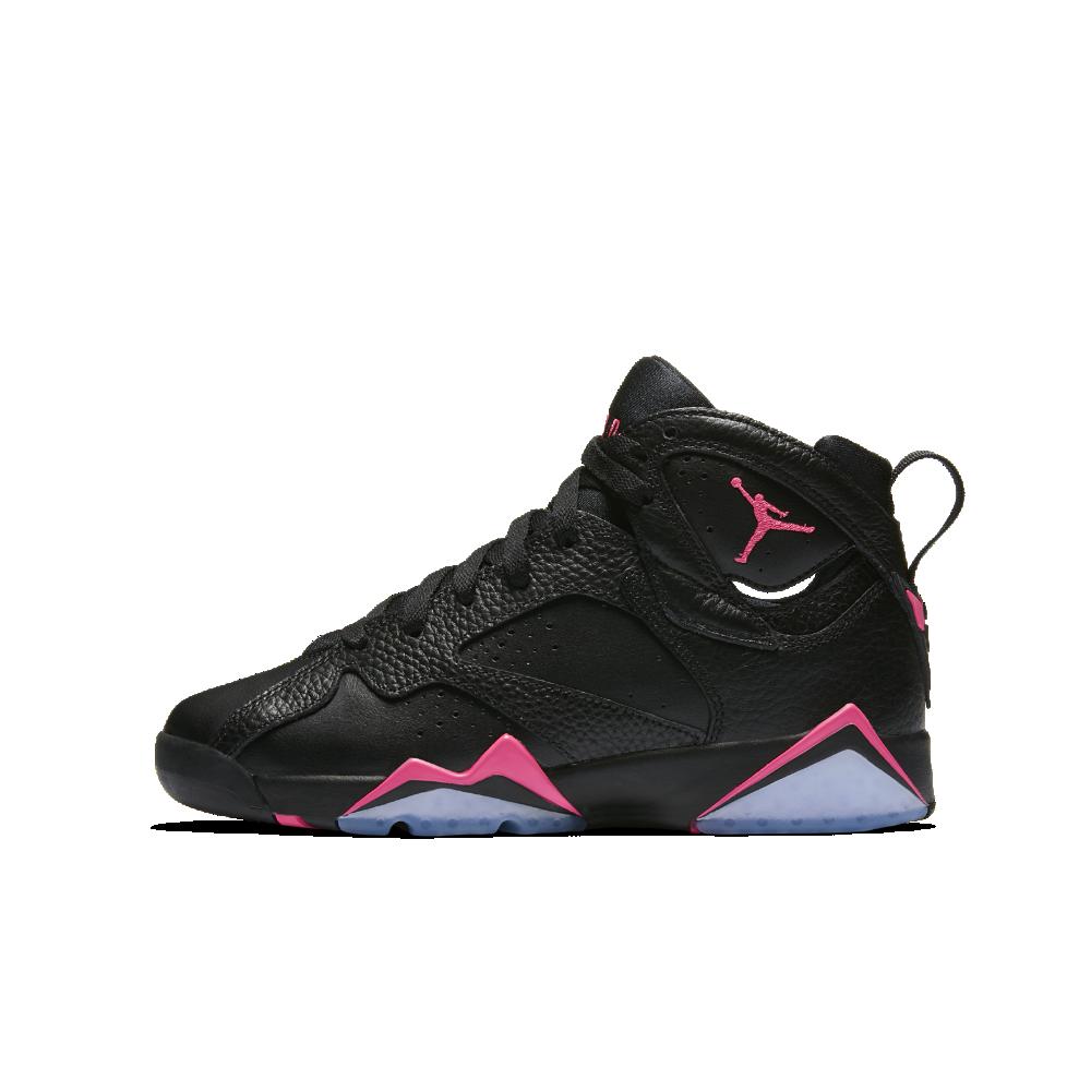 buy popular 54e22 8878b Air Jordan 7 Retro Big Kids  Shoe, by Nike Size 8.5Y (Black)