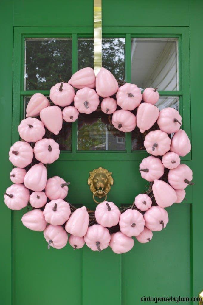 33 Pink pumpkin baby shower decoration ideas -