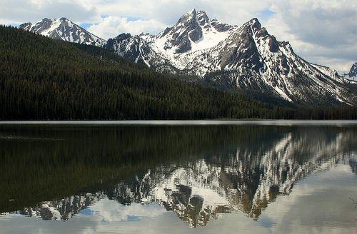 McGown Peak reflected on Stanley Lake, Idaho