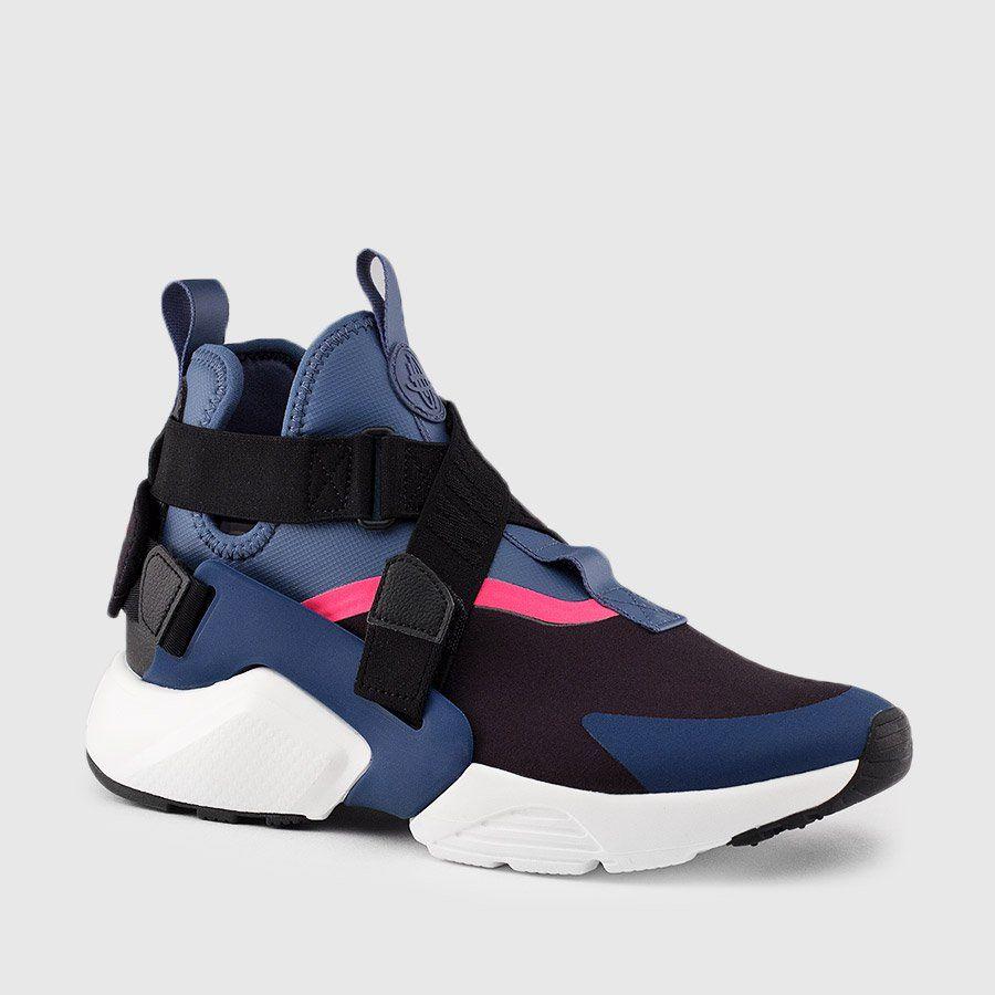 online store 50cd3 fbd6c Nike - Women s Air Huarache City (Black   Navy   Pink)