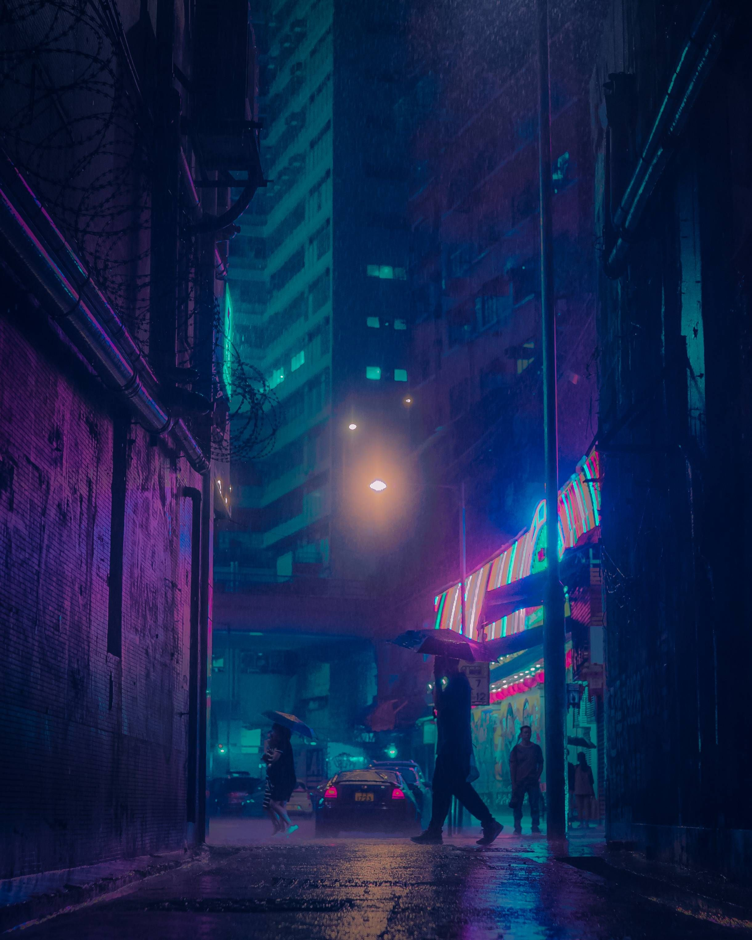 Itap Of An Alley In The Rain And Edited Itookapicture