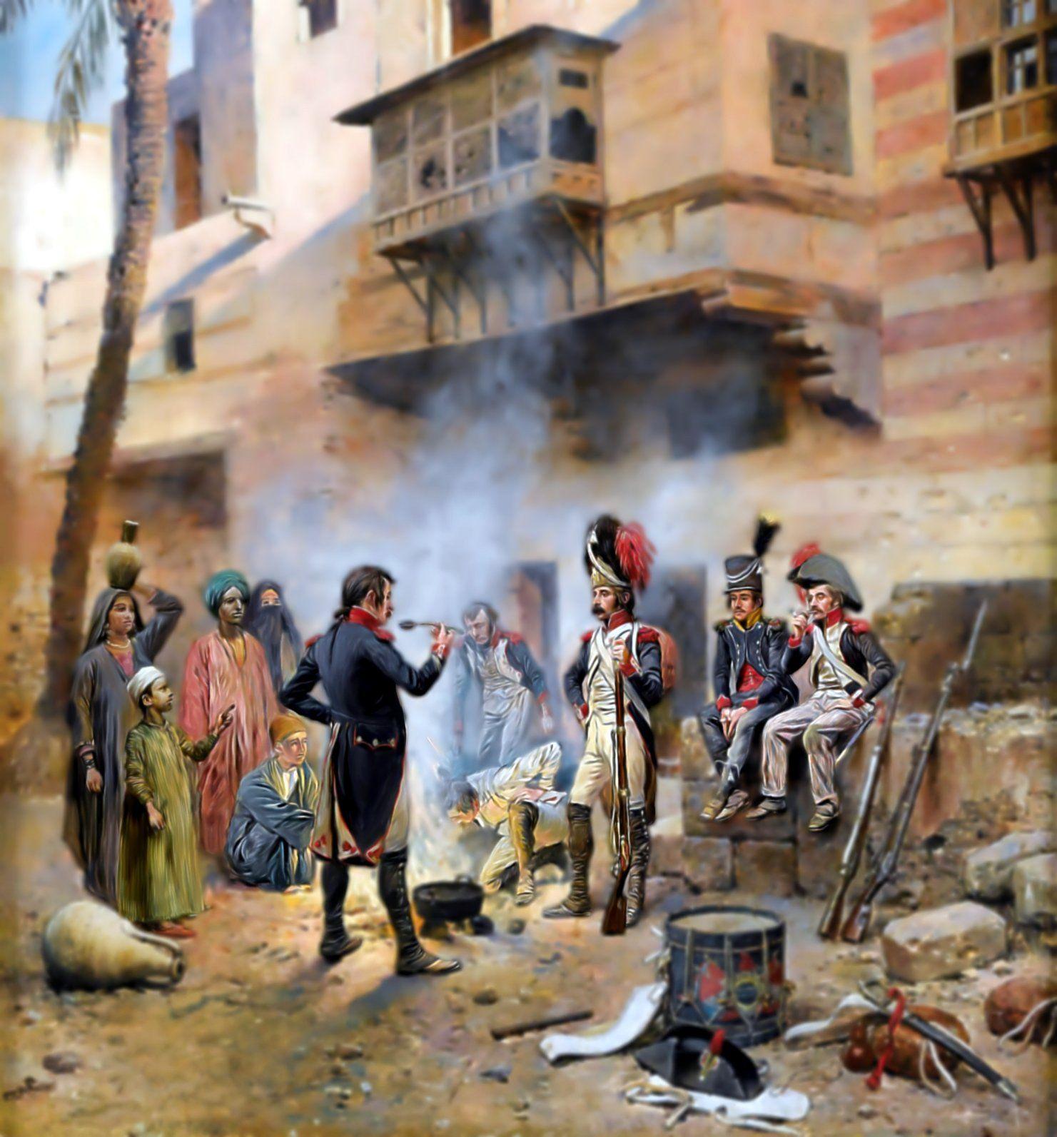 Bivacco francese in Egitto