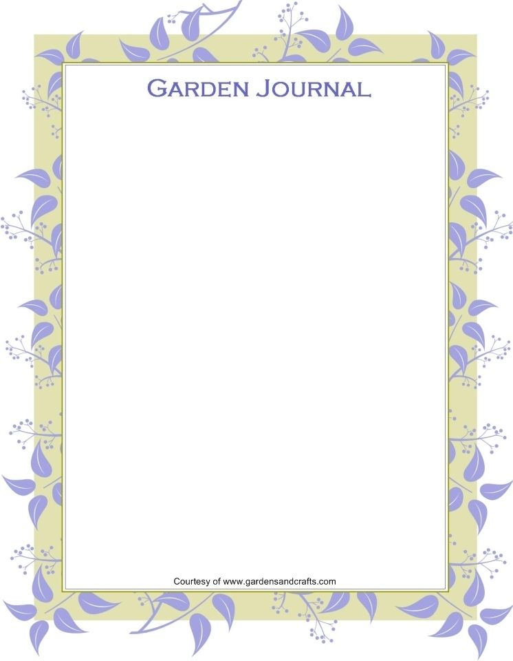 garden journal printables - lots of designs. | Share Gardening Ideas ...