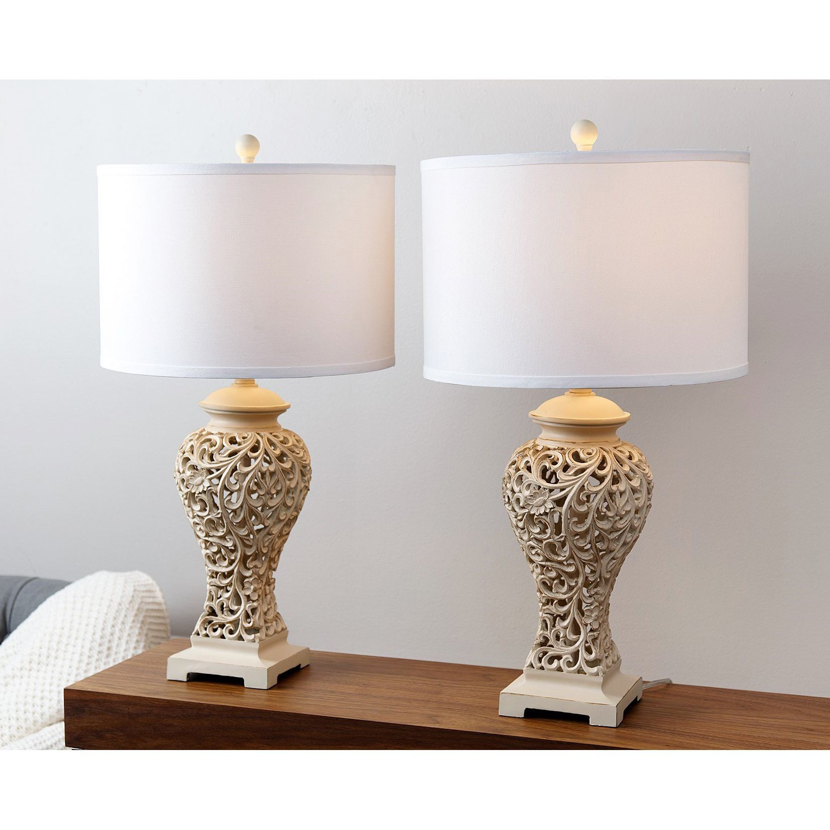 Abbyson fleur de lis table lamp set of 2 by abbyson tyxgb76aj abbyson fleur de lis table lamp set of 2 by abbyson mozeypictures Gallery