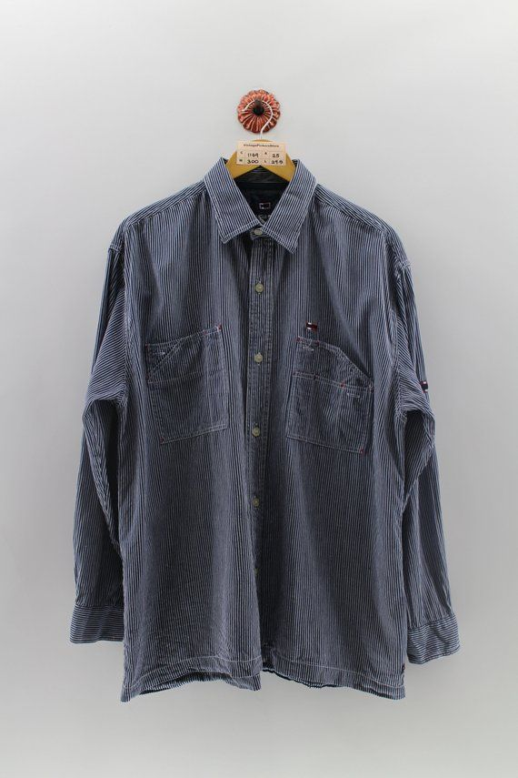 ce5256e25d4 BUGLE BOY Hickory Shirt XLarge Vintage 90 s Japanese