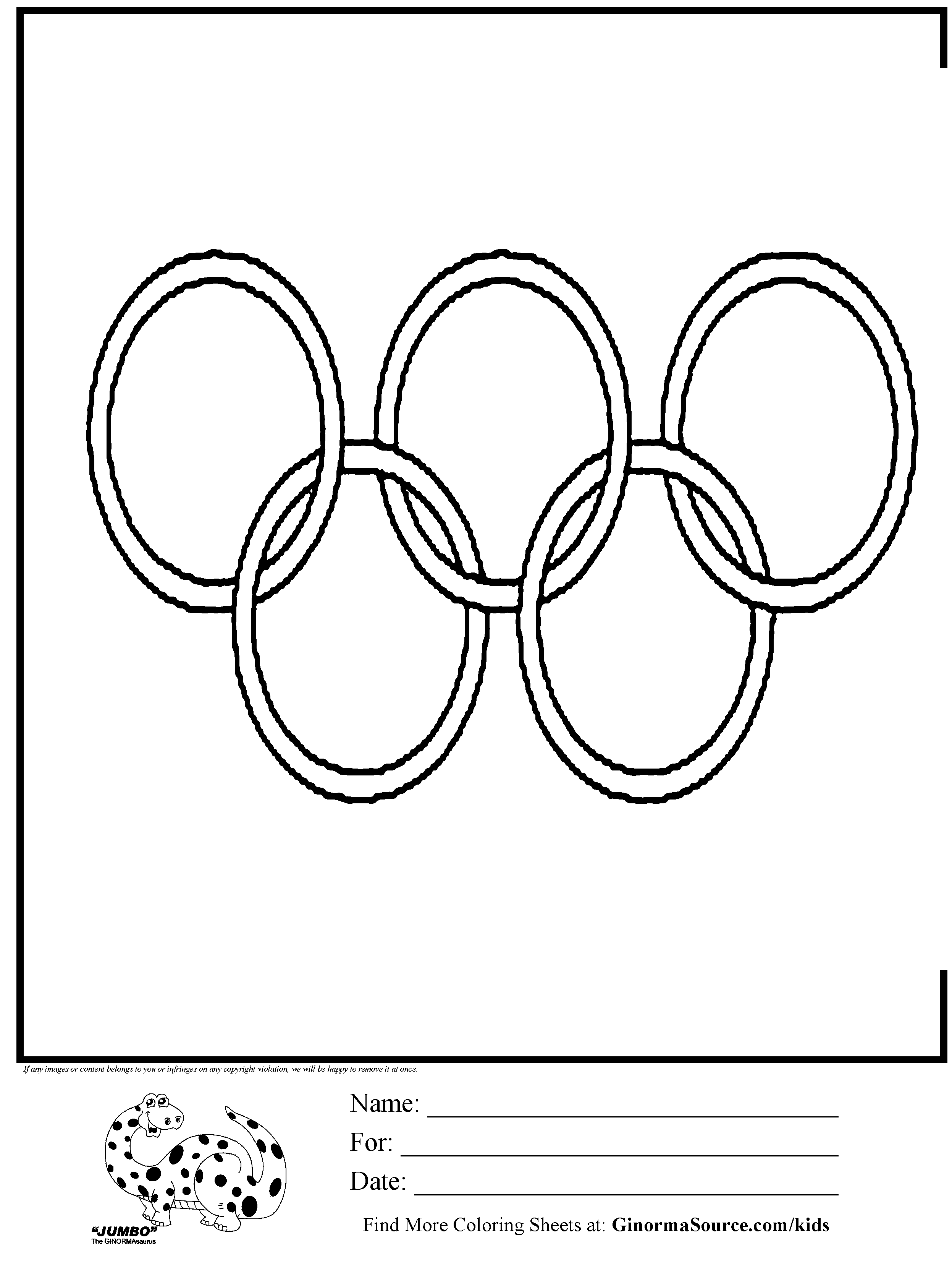 OLYMPICS ring coloring with ordinal number directions