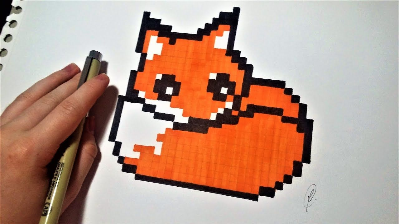 Pixel Art Facile Dessin Renard Kawaii Pixel Art Facile