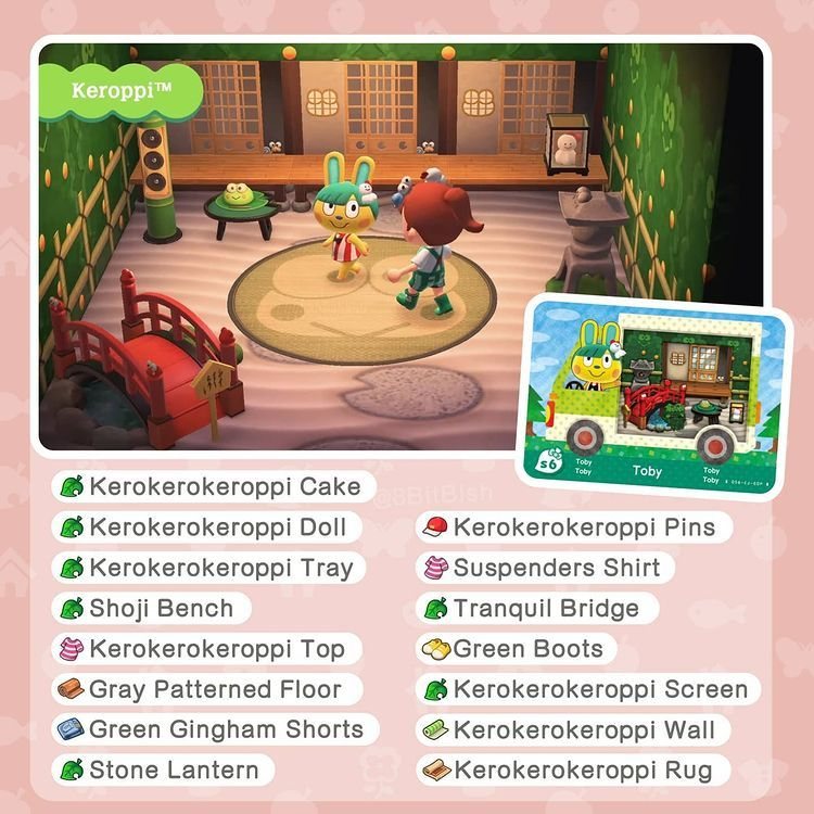 8bitbish Animal Crossing On Instagram The New 1 9 Hello Kitty Crossover Coming On The 18th March In Animal Crossin In 2021 Stone Lantern Green Boots Floor Patterns