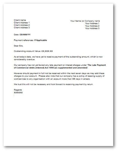 Late Payment Letter  Letter    Template And Business