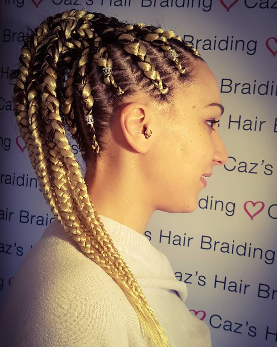 Feed In Braids With Ponytail Blonde Hairstyles Hair Styles