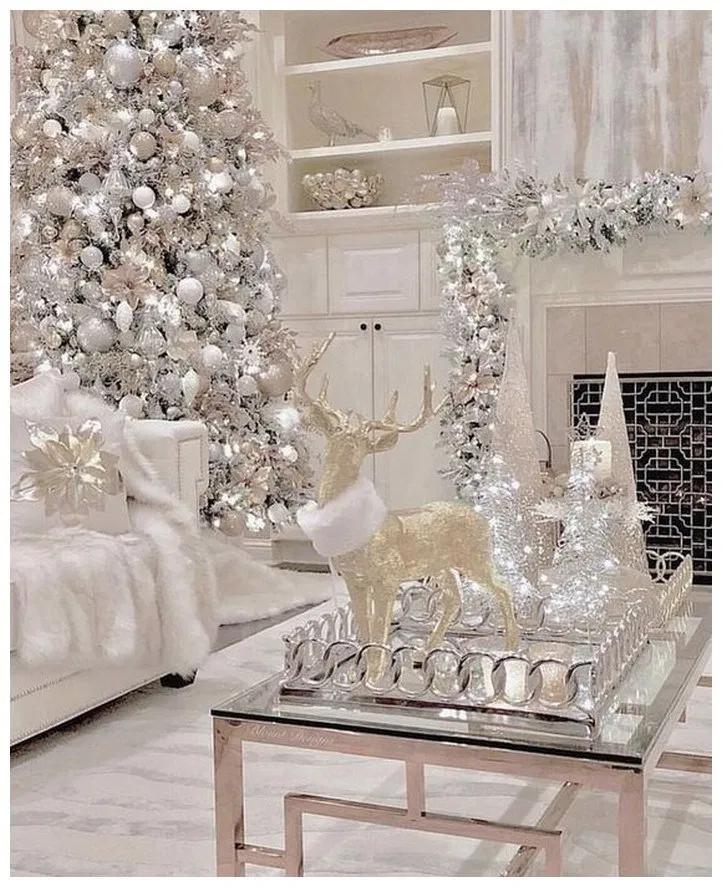 50 Elegant White Winter Wonderland Themed Decoration Ideas Coupon Valid Elegant Christmas Decor White Christmas Trees Elegant Christmas