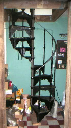 Reclaimed Cast Iron Spiral Staircase For Sale On Salvoweb From Uk   Iron Spiral Staircase For Sale   Round   Abandoned   Antique   Grey Exterior   Loft
