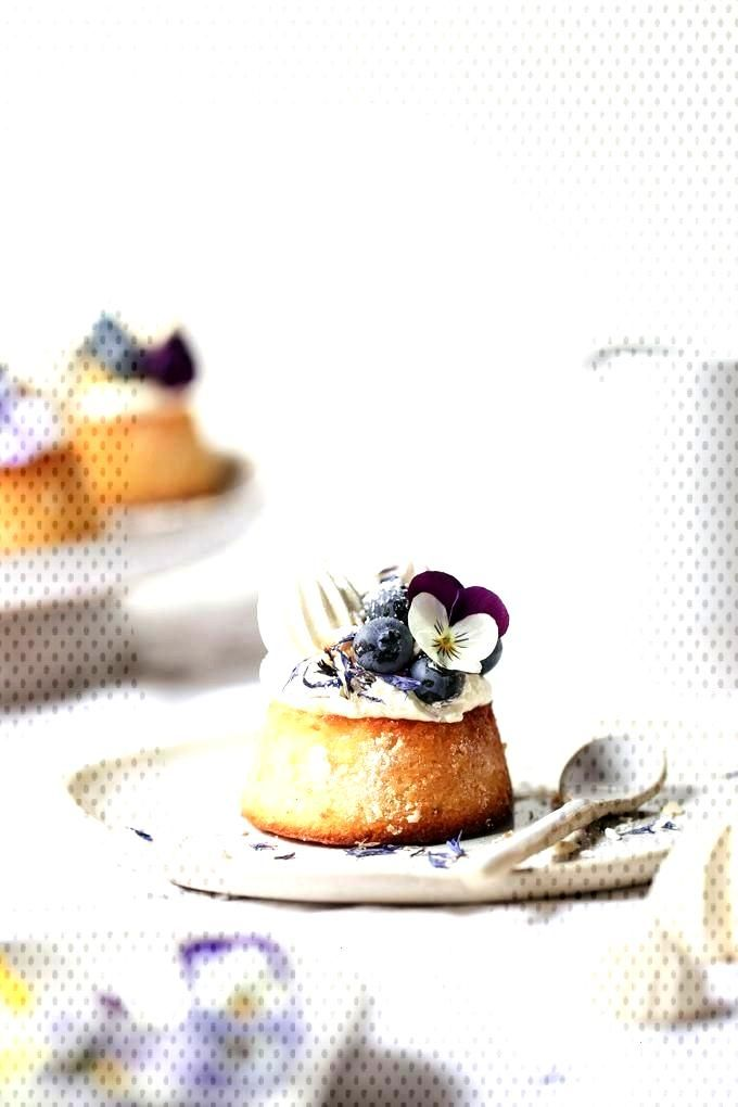 Lemon Curd, Blueberry and Almond Teacakes - The Polka Dotter - Whats Baking -