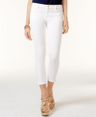 c6930d6dfb6a Michael Michael Kors Petite Izzy Cropped Skinny Jeans - White 12P ...