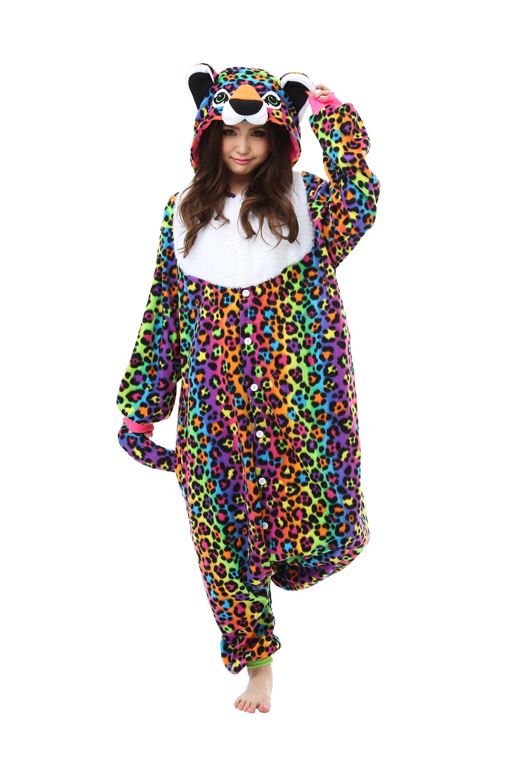 Lisa Frank Hunter Kigurumi - Adult Costume Neon Icon Bear  4e88382f1
