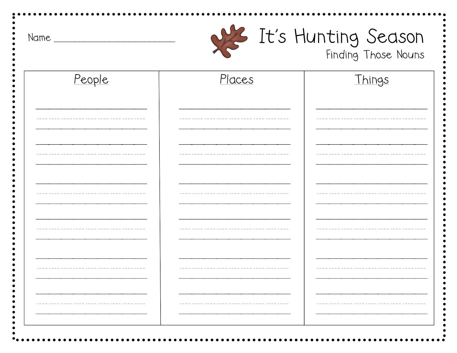 Noun Hunt Freebie The Latest Haps With Images