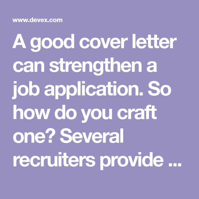 How Do You Do A Cover Letter A Good Cover Letter Can Strengthen A Job Applicationso How Do You .