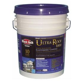 Shop Black Jack 5 Gallon Elastomeric Reflective Roof Coatings 10 Year Limited Warranty At Lowes Com Elastomeric Roof Coating Roof Coating Roof Sealer