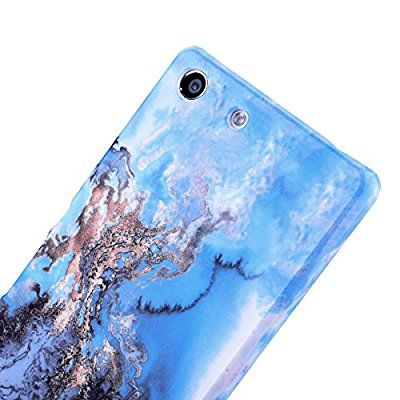 GrandEver Sony Xperia M5 Marmor Hülle Hartschale Marble Case ...