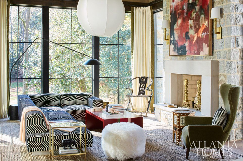 The home for holidays designer showhouse proved that bold is best showcasing rich also rh pinterest