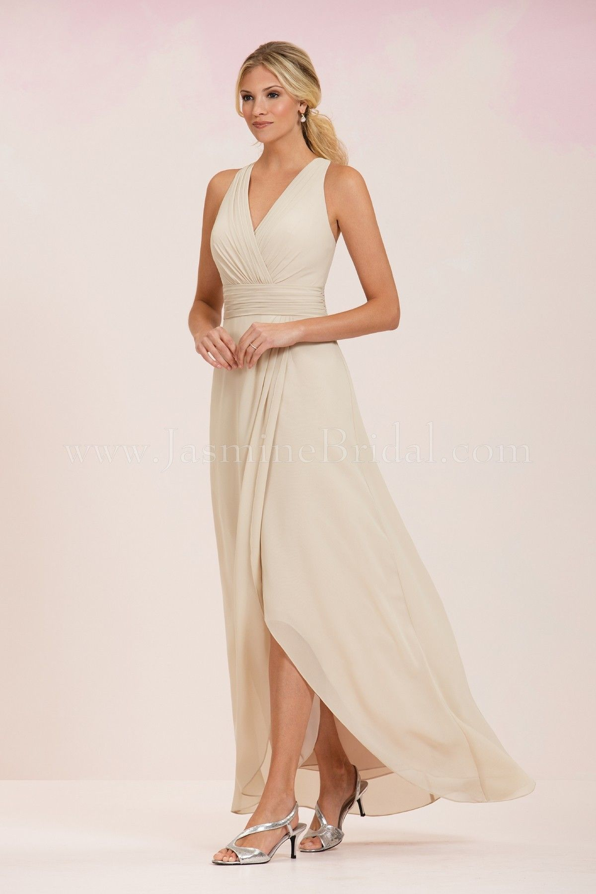 Jasmine Bridal Bridesmaid Dress Bridesmaids Style P186058 In Almond