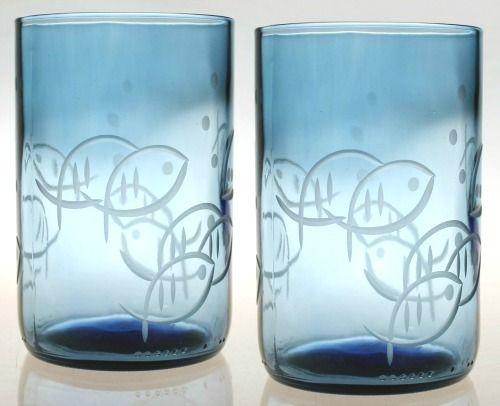 Fish Glasses Etched Glassware Glassware Glassware Set