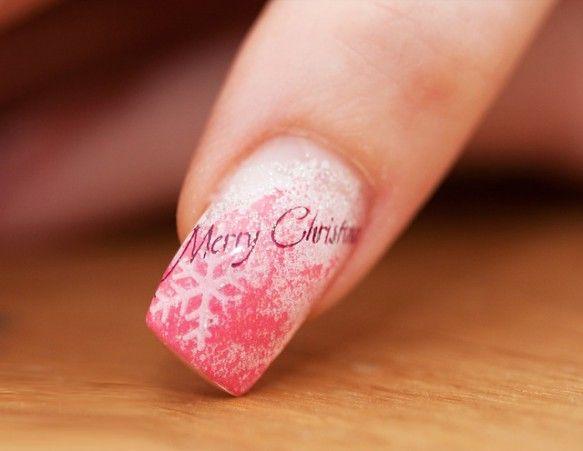 Merry Christmas Pink Nails Pink Nail Designs Pinterest Pink