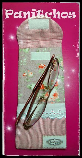 Porta-Óculos em tecido da Lu PANITCHOS - Ideias em tecido