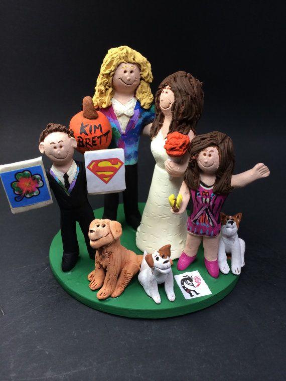Wedding Cake Topper For A Blended Family Mixed Step Caketopper