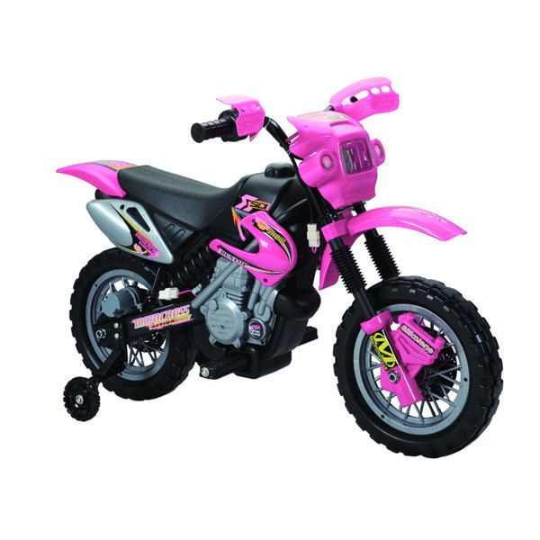 Fun Wheels Pink 6v Battery Operated Motorbike Outdoor Girl Fun