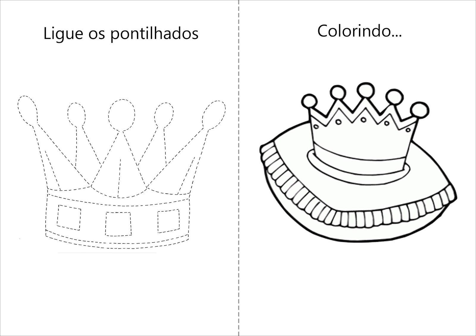 Coroa De Princesa Desenho: Atividades+colorir+coroa+princesa+rosa.jpg (1600×1131