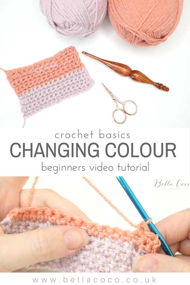How to change colours in crochet. Easy video Tutorial by Bella Coco ...