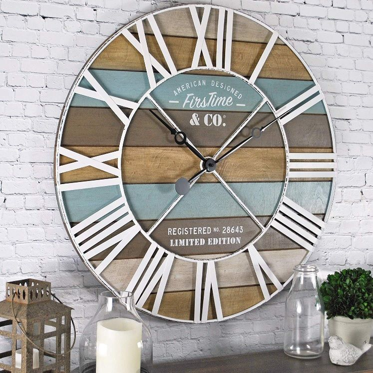 Beach Style Big Wall Clocks | DIY or Shop the Look - Seas Your Day