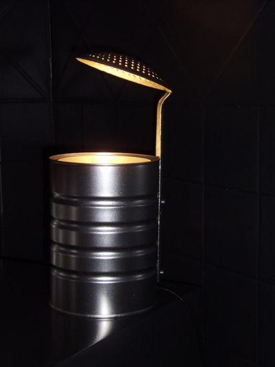 lampe de bureau r cup diy boite de conserve et cumoir blog de yvanmaz light que la. Black Bedroom Furniture Sets. Home Design Ideas