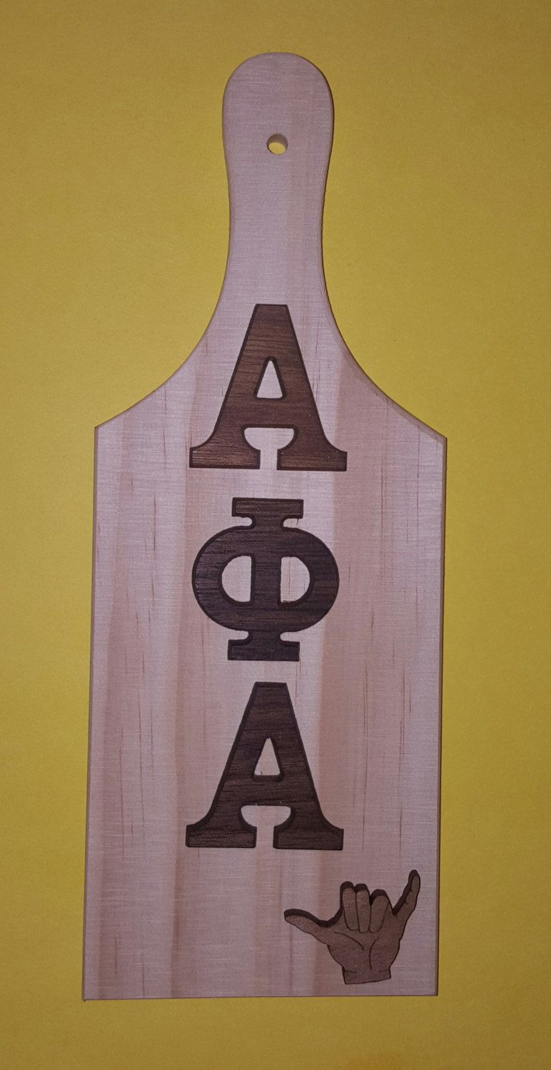 Alpha Phi Alpha Greek Letter Mini Wooden Paddle By Lineupboutique On