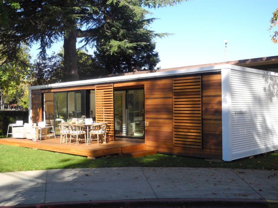 Prefab house by connect homes in silicon valley kitset pinterest best prefab and modern - Mobile home container ...