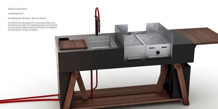 bbqube Outdoorküche por Kay ZASS en Coroflot Asadores y - outdoor küche edelstahl