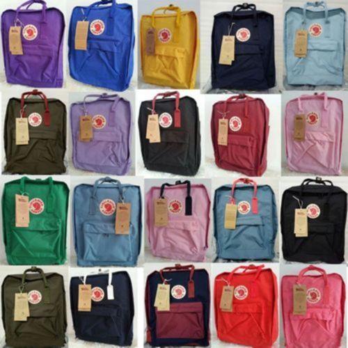 Fjallraven Kanken Backpack Rucksack 7L//16L//20L Sport Travel Shoulder Bag Grey