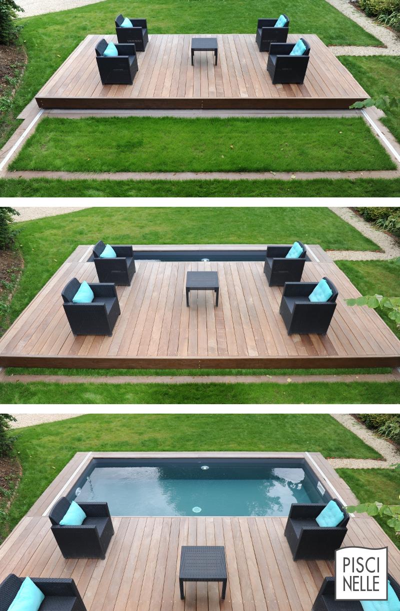 Le rolling deck piscinelle est un abri de piscine qui for Abri de piscine